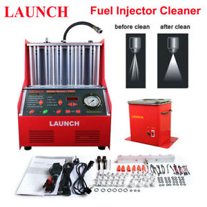 Original LAUNCH Auto CNC602A Car Fuel Injector Ultrasonic Cleaner Machine Tester