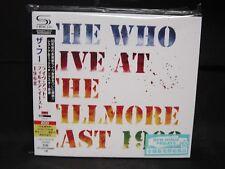 THE WHO Live At The Fillmore East 1968 JAPAN SHM 2CD Pete Townshend U.K. Rock