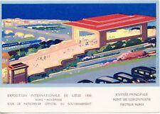 CARTE POSTALE BELGIQUE EXPOSITION INTERNATIONALE DE LIEGE 1930 ENTREE PRINCIPALE