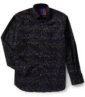 Visconti Flocked Swirl Long-sleeve Woven Shirt, Size 2XLT, MSRP $165