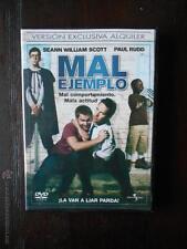 DVD MAL EJEMPLO - EDICION DE ALQUILER - SEANN WILLIAM SCOTT -PAUL RUDD (5R)