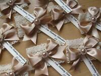 Vintage Lace Napkin Ring Personalised - Doubles Up As Place Card Setting Too