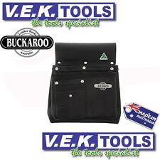 BUCKAROO LEATHER TOOLS H/DY NAIL BAG/TOOL BELT-2POCKET NAIL BAG-NBS2B-AUS MADE