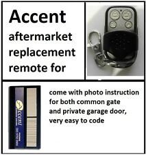 ACCENT GARAGE DOOR REMOTE CONTROL DUAL ACCESS 2 Channels REPLACEMENT REMOTE
