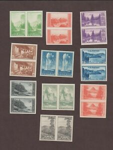 US,756-765,PAIRS,MNH ,VF,COMPLETE SET FARLEY 1935 NATIONAL PARKS,MINT NH