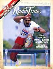 RADIO TIMES MAGAZINE 1984/10/8 DALEY THOMPSON, NEIL ADAMS, DR EDWARD TELLER