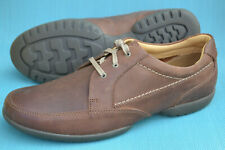 Clarks Mens Casual Shoes RECLINE OUT Tan Leather UK 10 H / 44.5 Wide Fit