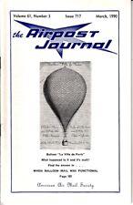 The Airpost Journal Issue 717 March 1990 Balloon Mail La Ville de Paris