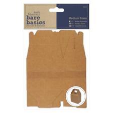 4 x Papermania Bare Basics Medium Boxes 11.5cmx7.2cmx4.8cm Brown Rectangle Shape