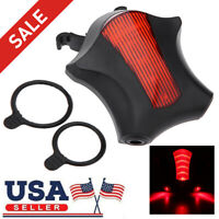 Bicycle Tail Light Bike Laser Taillight 5 LED & 2 Laser Launcher Night Safety US