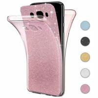Handy Hülle Samsung Galaxy J3 / J5 2016 Full Case Glitzer Schutzhülle Cover Klar
