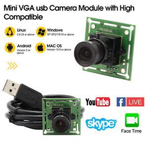 VGA 640x480 USB Camera Module OV7725 Color Sensor Webcamera YUY/MJPEG 3.6MM Lens