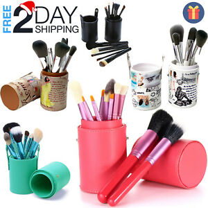 9-13 PCs Makeup Brushes Set Professional Kit with Case Brush Holder Travel Gift