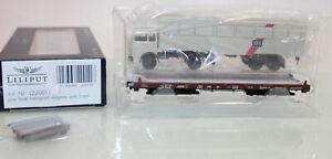 Niederflurwagen mit LKW-Sattelzug DB Liliput  1:87