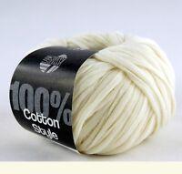 Lana Grossa Cotton Style 50g Wolle 002 Creme