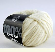 Lana Grossa Cotton Style 50g Wolle 002 Creme