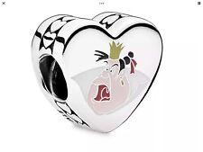 💋PANDORA GENUINE DISNEY ROYAL BADNESS VILLAIN QUEEN OF HEARTS CHARM💋