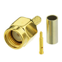 SMA Male Straight Solder Crimp Connector for RG316 RG174 Coaxial Cable