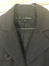 Basque City Size 14 Crop Pinstripe Jacket Button Business Office Profesh # 586