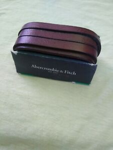 Men's Abercrombie & Fitch Brown Leather Bracelet