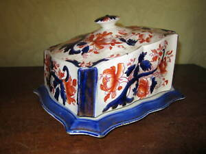 An old Victorian / Edwardian cheese dish and cover - Perfect condition.