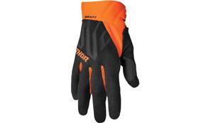 New Thor Draft MX/MotorCross/ATV/Offroad Gloves - Black/Orange -All sizes 2022