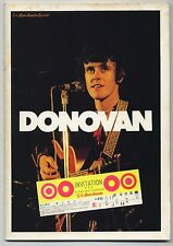 Donovan - Love Sounds Special JAPAN PROGRAM with TICKET STUB March 17-26 1973