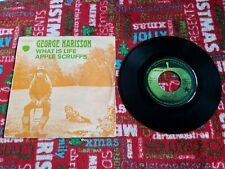 Beatles George Harrison France Apple 45 record WHAT IS LIFE 1972 PS black star