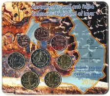 2012 - 8 pieces  Coins  3,88 EURO Greece Grece - 2€ Europa Bull - BU Blister