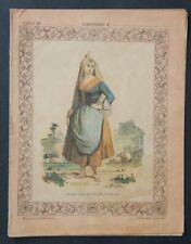 Protège cahier Femme URGEL Espagne pittoresque Collection Lebrun copybook