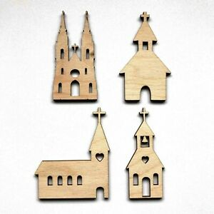 Wooden Birch Ply Church Wedding Craft Shapes 3mm Thick Blanks Embellishments