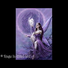 *CELTIC FAIRY* Anne Stokes Draco Faerie Fantasy Art Blank Greeting Card  (AN02)