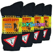 12 Pairs Mens Ultimate Work Black Boot Socks Size 6-11 Cushion Sole Reinforced