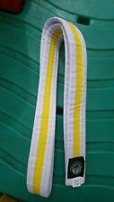 Tae Kwon - Do International Approved White Belt Yellow Stripe 150cm