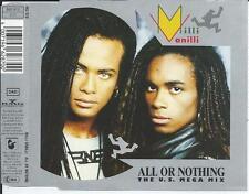 MILLI VANILLI - All or nothing (THE U.S. MEGA MIX) CDM 3TR (BMG) 1989 GERMANY