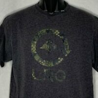 LRG Lifted Research Group Graphic T Shirt Mens Med Grey Short Sleeve Crewneck