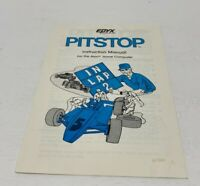 Epyx Pitstop Game Instruction Manual for Atari