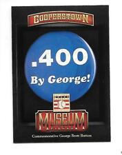 GEORGE BRETT 2013 COOPERSTOWN MUSEUM PIECES #4 KANSAS CITY ROYALS