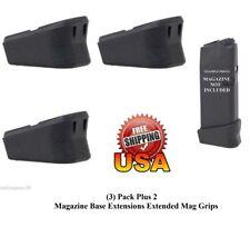 (3) Plus 2 Magazine Base Extension Bottom Mag Plates For GLOCK 17 19 26 22 23 27