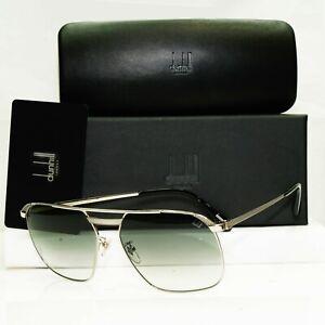 Authentic DUNHILL Mens Sunglasses Silver Palladium Square Vintage SDH 140 0579