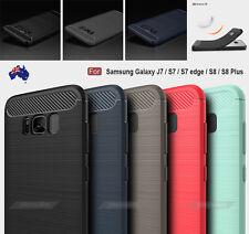 Black Slim Armor Shockproof TPU Case Cover for Samsung Galaxy S6 S7 S8 Plus J7