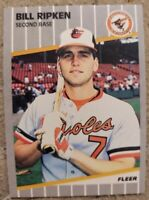 1989 Fleer Bill Ripken ERROR Black Box Card MINT #616 Orioles BILLY For grading