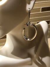 Silver Plated Hoop. Silver Reflection Pure