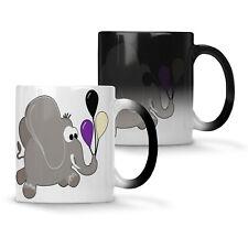 Elephant smile Happy Colour changing 11oz Mug p161w