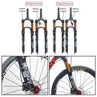 """1-1/8 Threadless Air Shock Suspension Fork MTB Mountain Bike 26"""" 27.5"""" 29"""" 100mm"""