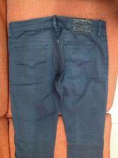 Pantaloni Jeans Guess Ragazzo 5 Tasche Taglia 44 Grigio Scuro Cotone Vita 86