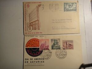 España 2 sobre Dia de America-Exp. Fil. correos año 1966-1978 -ver foto-Ref,8425