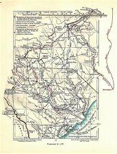 Original Antique Revolutionary War Map North & South Carolina Campaign of 1781