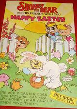 Vintage Shoney Bear Happy Easter Activity Book / Children's Menu!