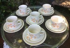 Vintage Grindley Cartwrights 'Seasons' Cups, Saucers and Plates, boxed & unused